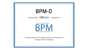 BPM-D Named one of the 10 most promising BPM Consulting Service Providers
